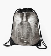 Tesla In Study Drawstring Bag