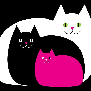 Three Fat Cats by AntiqueImages