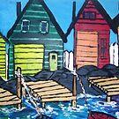 Fishermens cove by Pamela Ward