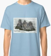 III Three Sisters Blue Mountains Colour Pencil Drawing Classic T-Shirt