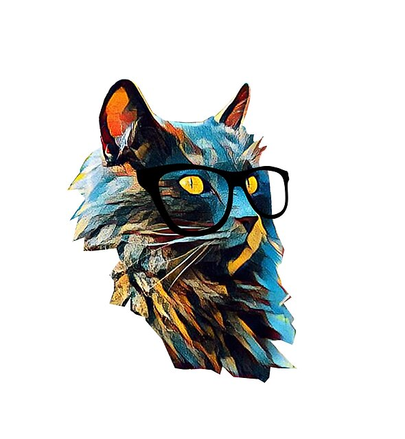 bright cat with glasses by N-and-W