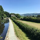 Hills and fields around the Montgomery canal in Wales by CruisingTheCut