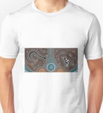Fierce Snake and Magpie Unisex T-Shirt
