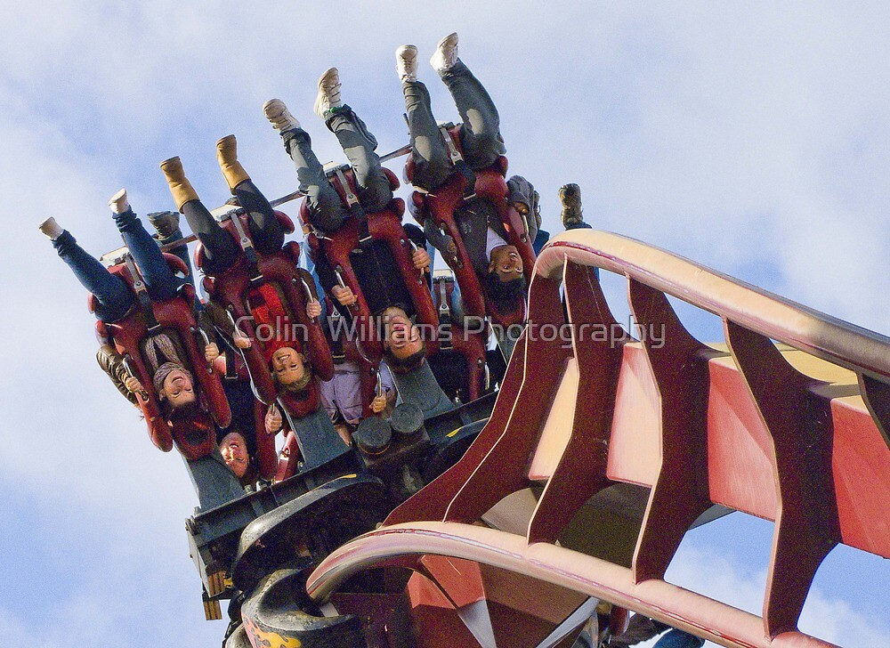 Nemesis Inferno - Hang on !!!  by Colin  Williams Photography