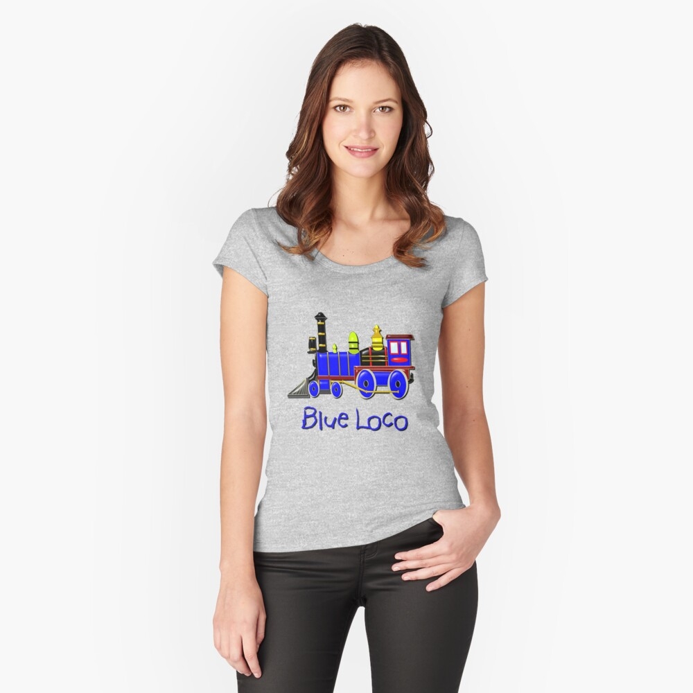Kids Blue Loco design Women's Fitted Scoop T-Shirt Front