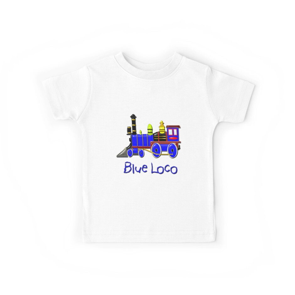 Kids Blue Loco design by Dennis Melling