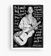Woody Guthrie - this land is your land Leinwanddruck