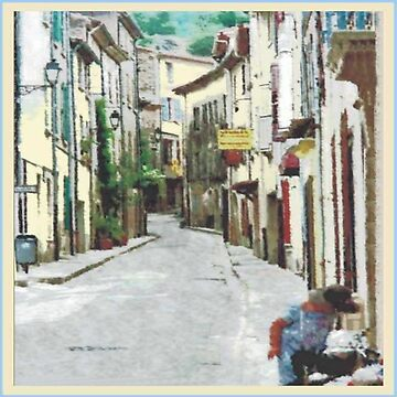 Street in La Collobrières in the south of France by robelf