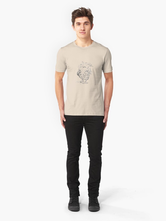 Alternate view of owl Slim Fit T-Shirt