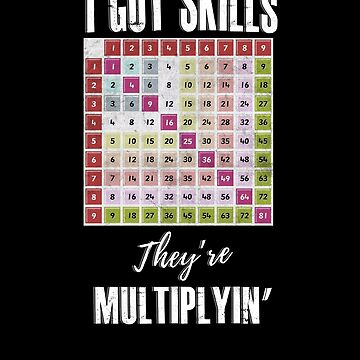 I got skills they're multiplyin math teacher by WWB2017