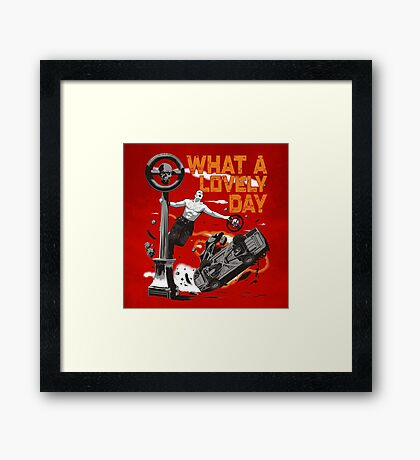 Singing in the Hell Framed Print