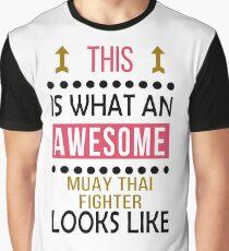 Muay Thai Awesome Looks Birthday Christmas Funny  Graphic T-Shirt