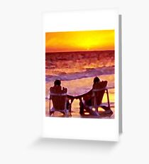 A Shared Sunset Greeting Card