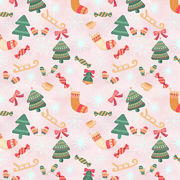 Festive Winter Holiday Pattern by KirstenStar