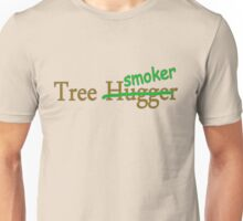 Tree hugger smoker funny college hippy 420 stoner comedy t-shirt for guys and girls Unisex T-Shirt