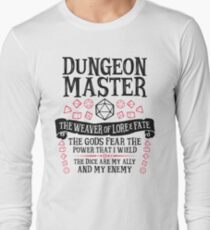 Dungeon Master, The Weaver of Lore & Fate - Dungeons & Dragons (Black Text) Long Sleeve T-Shirt