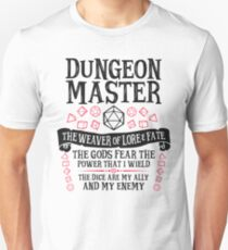 Dungeon Master, The Weaver of Lore & Fate - Dungeons & Dragons (Black Text) Unisex T-Shirt