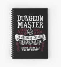 Cuaderno de espiral Dungeon Master, The Weaver of Lore & Fate - Dungeons & Dragons (Texto blanco)
