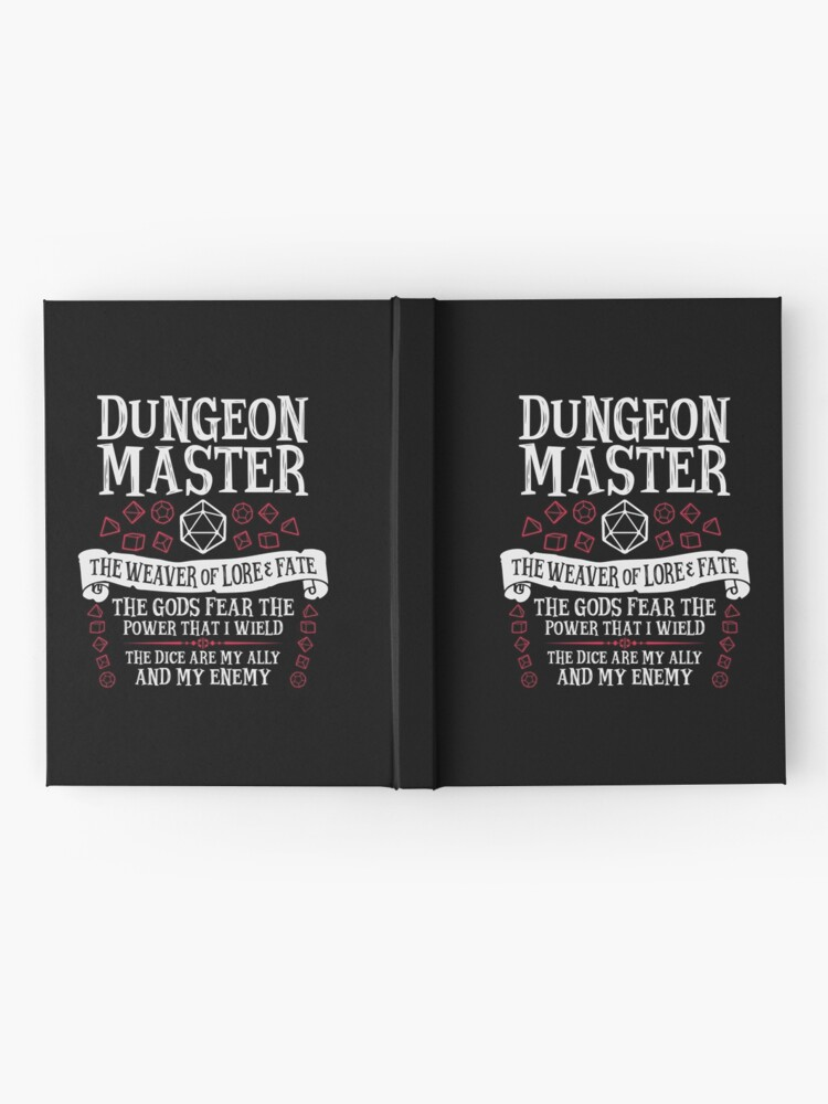 Alternate view of Dungeon Master, The Weaver of Lore & Fate - Dungeons & Dragons (White Text) Hardcover Journal