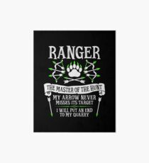 RANGER, The Master of the Hunt - Dungeons & Dragons (White Text) Art Board