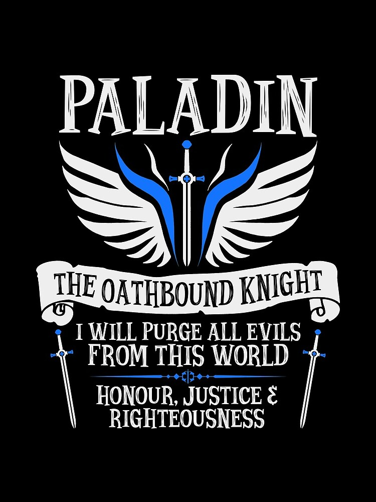 PALADIN, THE OATHBOUND KNIGHT- Dungeons & Dragons (White) by enduratrum