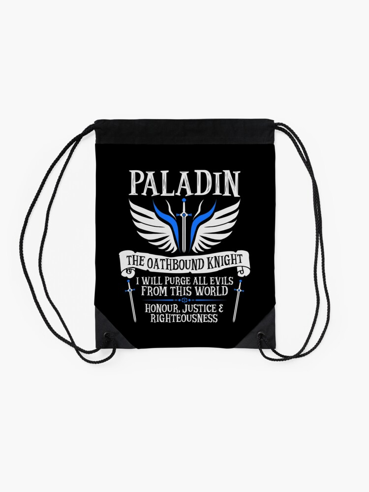 Alternate view of PALADIN, THE OATHBOUND KNIGHT- Dungeons & Dragons (White) Drawstring Bag