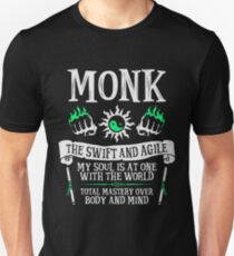 MONK, THE SWIFT AND AGILE - Dungeons & Dragons (White) Unisex T-Shirt