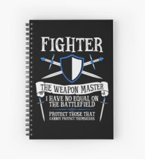 Cuaderno de espiral FIGHTER, THE WEAPON MASTER - Dungeons & Dragons (Negro)