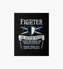 FIGHTER, THE WEAPON MASTER - Dungeons & Dragons (Black) Art Board