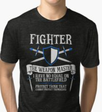 FIGHTER, THE WEAPON MASTER - Dungeons & Dragons (Black) Tri-blend T-Shirt
