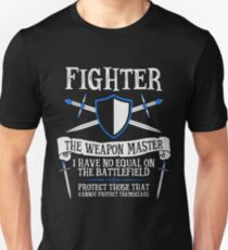 FIGHTER, THE WEAPON MASTER - Dungeons & Dragons (Black) Unisex T-Shirt