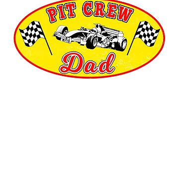 Pit Crew Dad Racing Hosting Birthday Party Matching T-Shirt by techman516