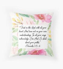 Vertraue dem Herrn von ganzem Herzen   Sprüche 3: 5,6   Schriftkunst Dekokissen