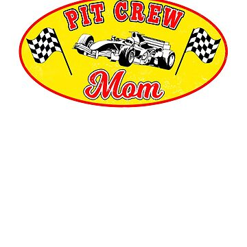 Pit Crew Mom Racing Hosting Birthday Party Matching T-Shirt by techman516