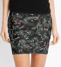 Wolf Pack Pattern Mini Skirt