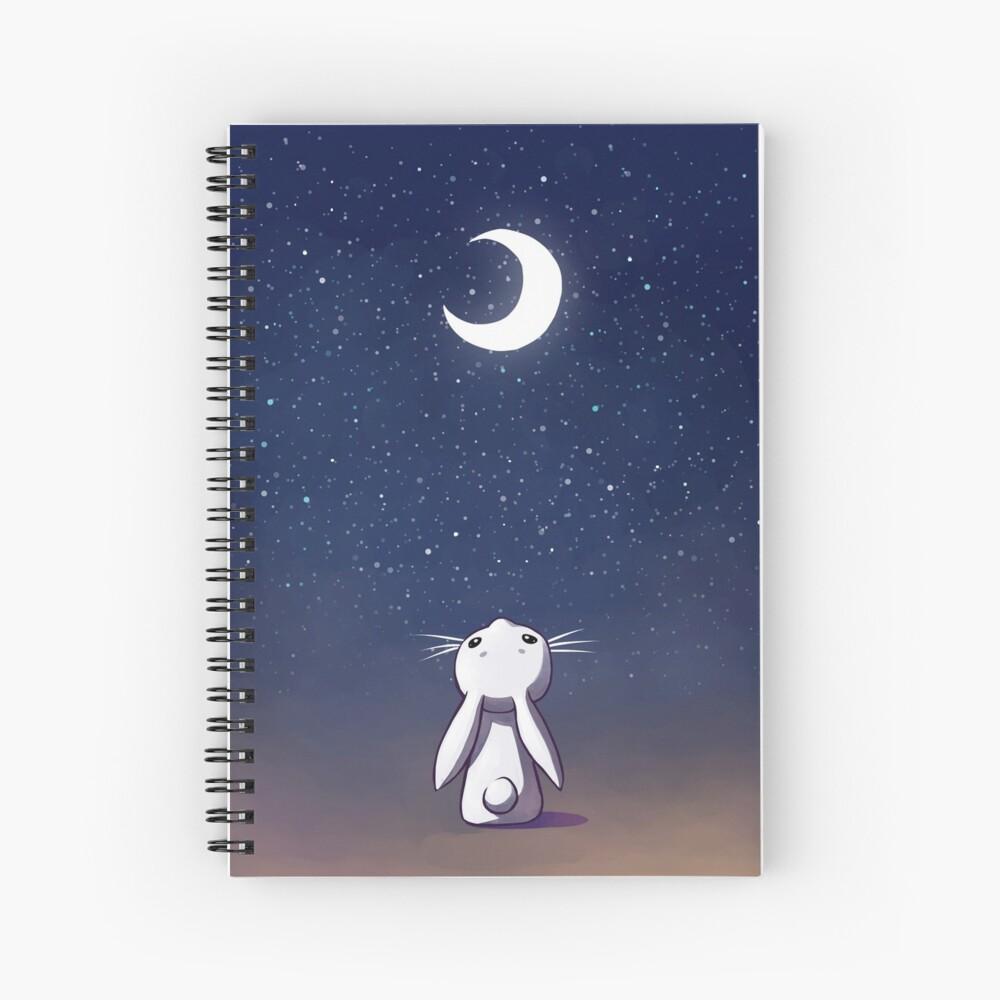 Moon Bunny Spiral Notebook