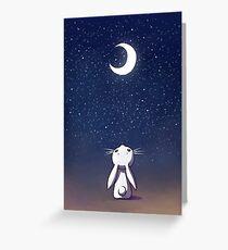 Moon Bunny Greeting Card
