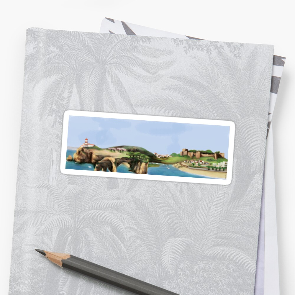 Algarve landscape Sticker