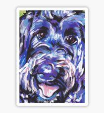 Labradoodle Dog Bright colorful pop dog art Sticker