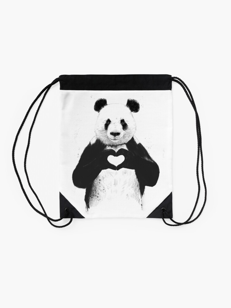 Alternate view of All you need is love Drawstring Bag