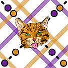 Orange Tabby Cat Plaid by SonneFaunArt