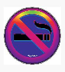 No Smoking ① emoji Photographic Print