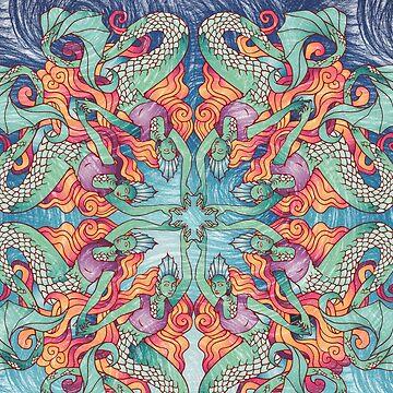 A Circle of Mermaids  by PETAbstractA