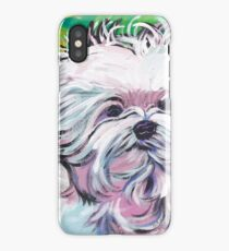 Maltese Dog Bright colorful pop dog art iPhone Case/Skin