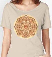 Ornate vintage vector napkin Women's Relaxed Fit T-Shirt