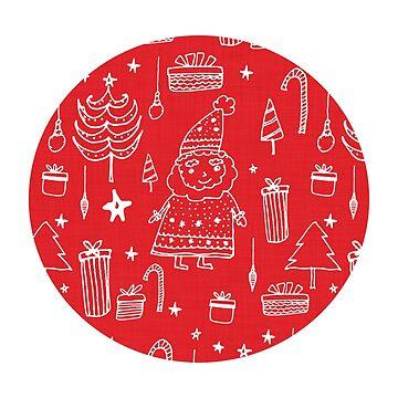 Santa Workshop Red by susycosta