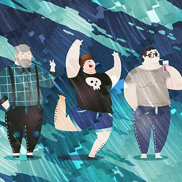 Three Guys on the Beach by PETAbstractA