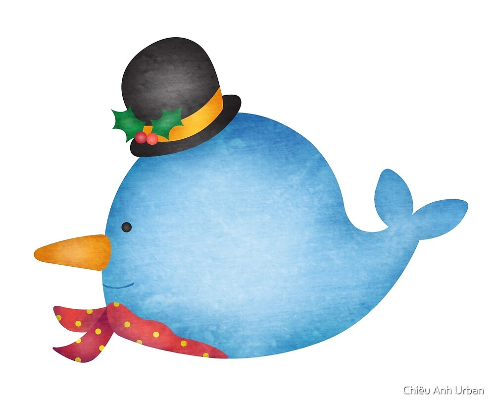 Holiday Whale Snowman by Chiêu Anh Urban