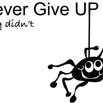 Never Give Up - Inspire Shirt - Motivation Shirt - Incy Shirt - Kibs Incy Shirt - Kids Spider Shirt - Incy tee - Incy tshirt - Cute Incy Shirt by happygiftideas