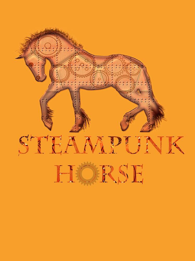 Steampunk horse  by valzart